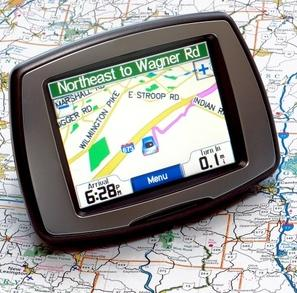 Global Positioning System (GPS) and map